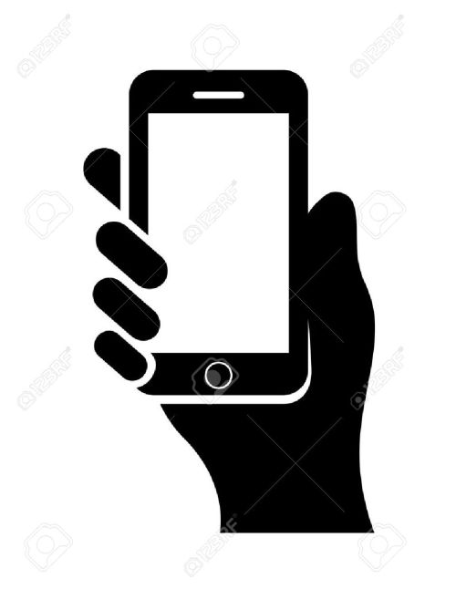 small resolution of hand with cell phone