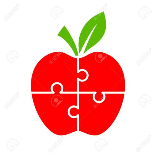 small resolution of puzzle apple diagram for infographics stock vector 88450073