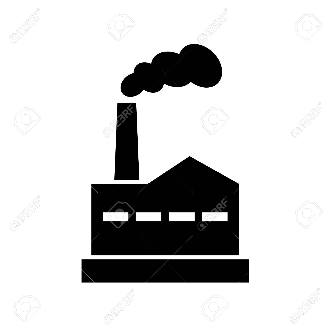 old factory vector icon