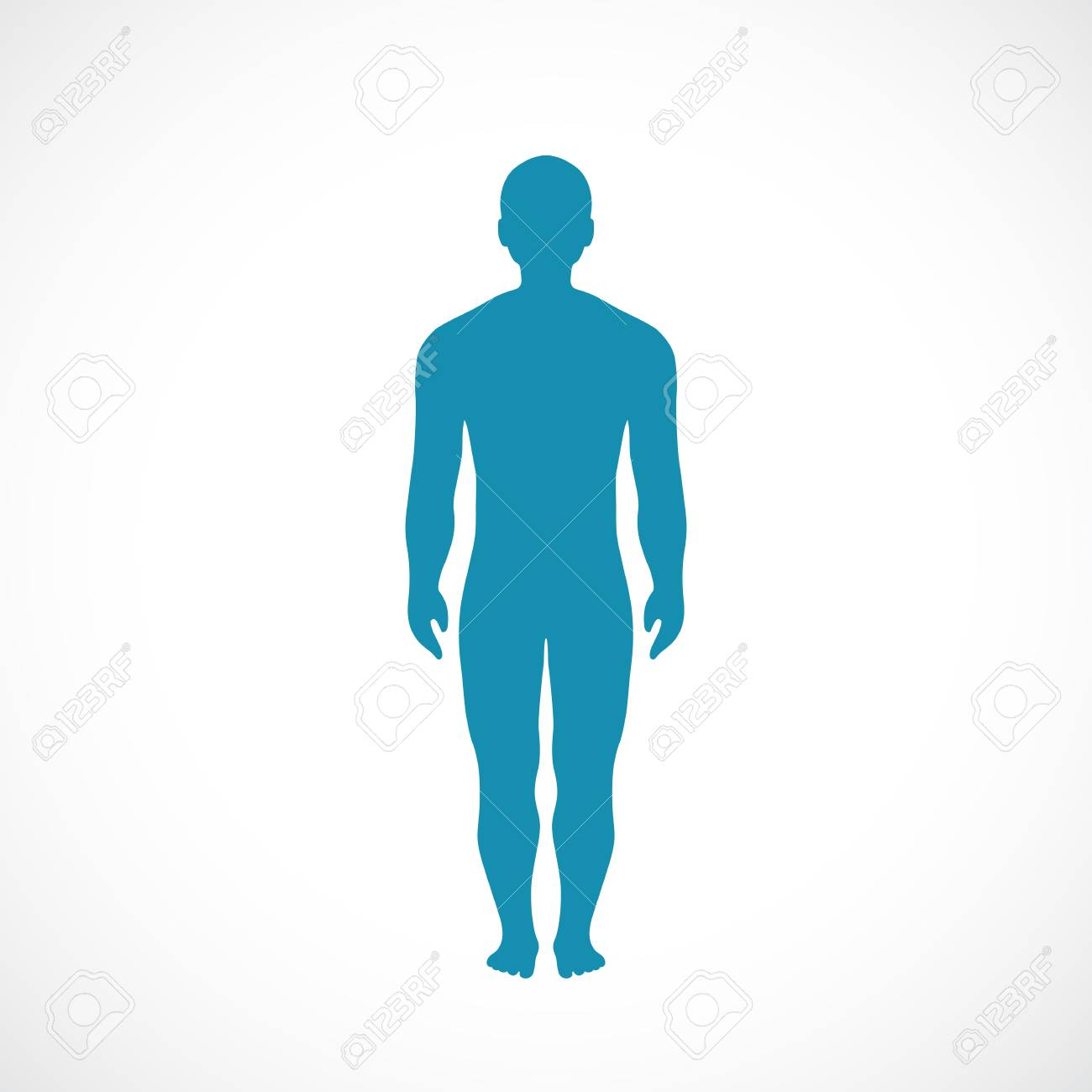 Human Body Silhouette Vector Icon Royalty Free Cliparts Vectors And Stock Illustration Image 104221598