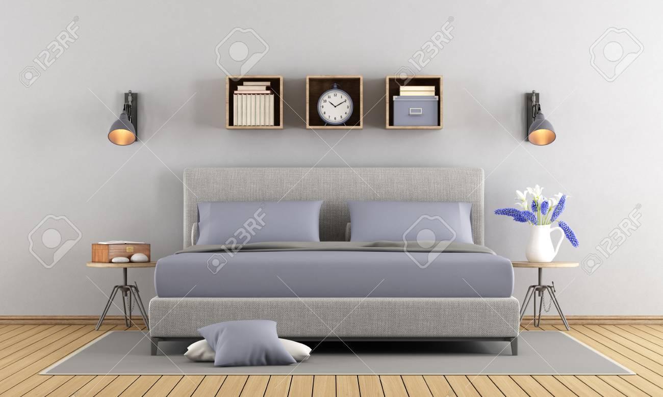 minimalist gray and lilac