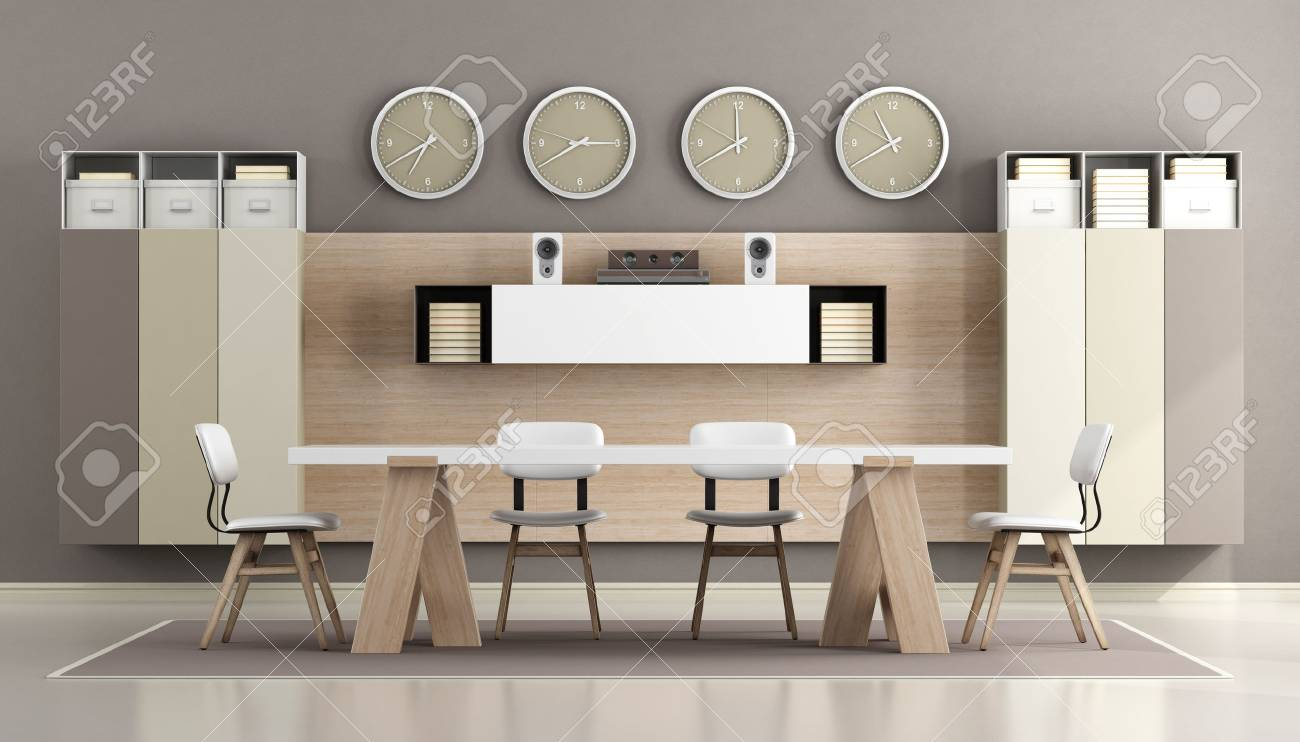 Boardroom Chairs Modern Boardroom With Meeting Table Office Chairs Wall Unit