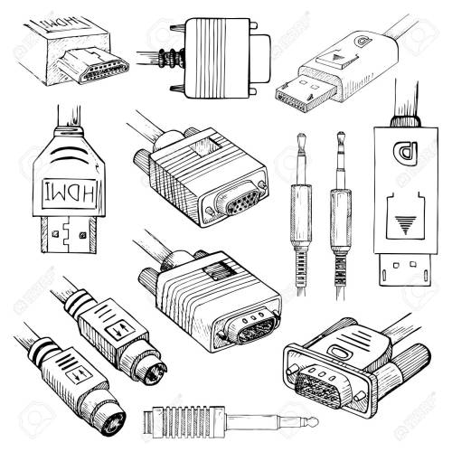 small resolution of media cables set hdmi vga dvi displayport s video
