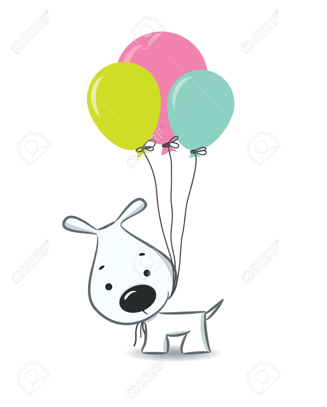 cute cartoon dog with