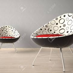 Grey Modern Armchairs Office Chair Under 1000 Interior Design Of Two On A Wall Stock Photo 7150198