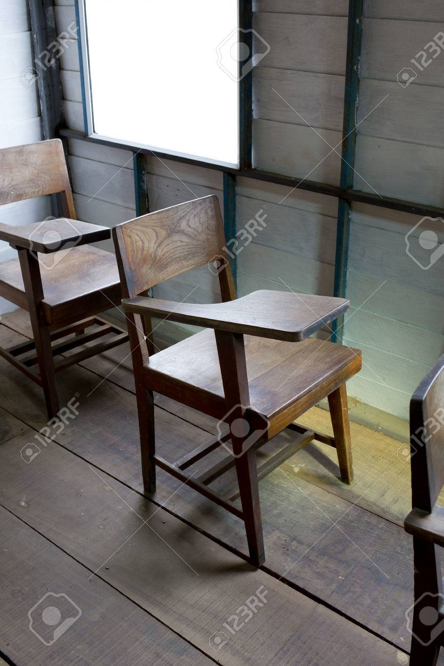 Vintage School Chairs Vintage A School Chair With A Fold Up Tablet Desk Made From Wood