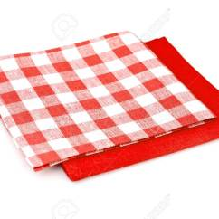 Kitchen Napkins Cost Of Marble Countertops Serving Isolated On White Studio Photo Stock 67545717