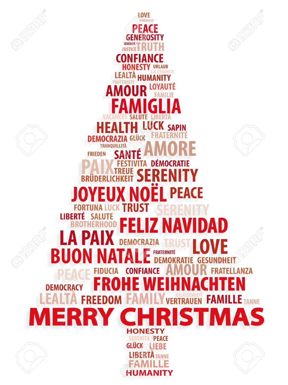 tree of words christmas