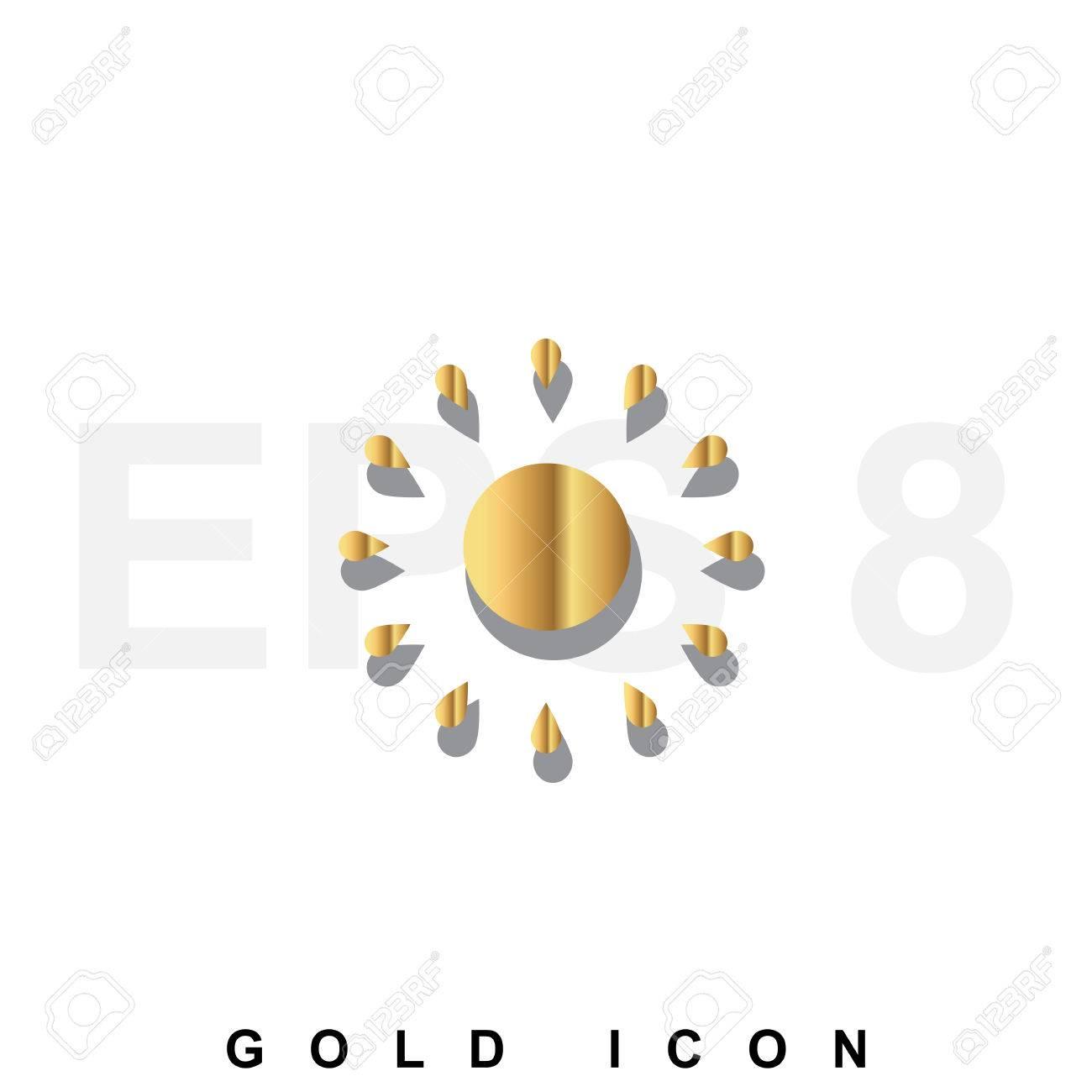 hight resolution of foto de archivo golden icono prima de sun gr fico elemento de dise o web o plantilla vector s mbolo de lujo real para los negocios internet