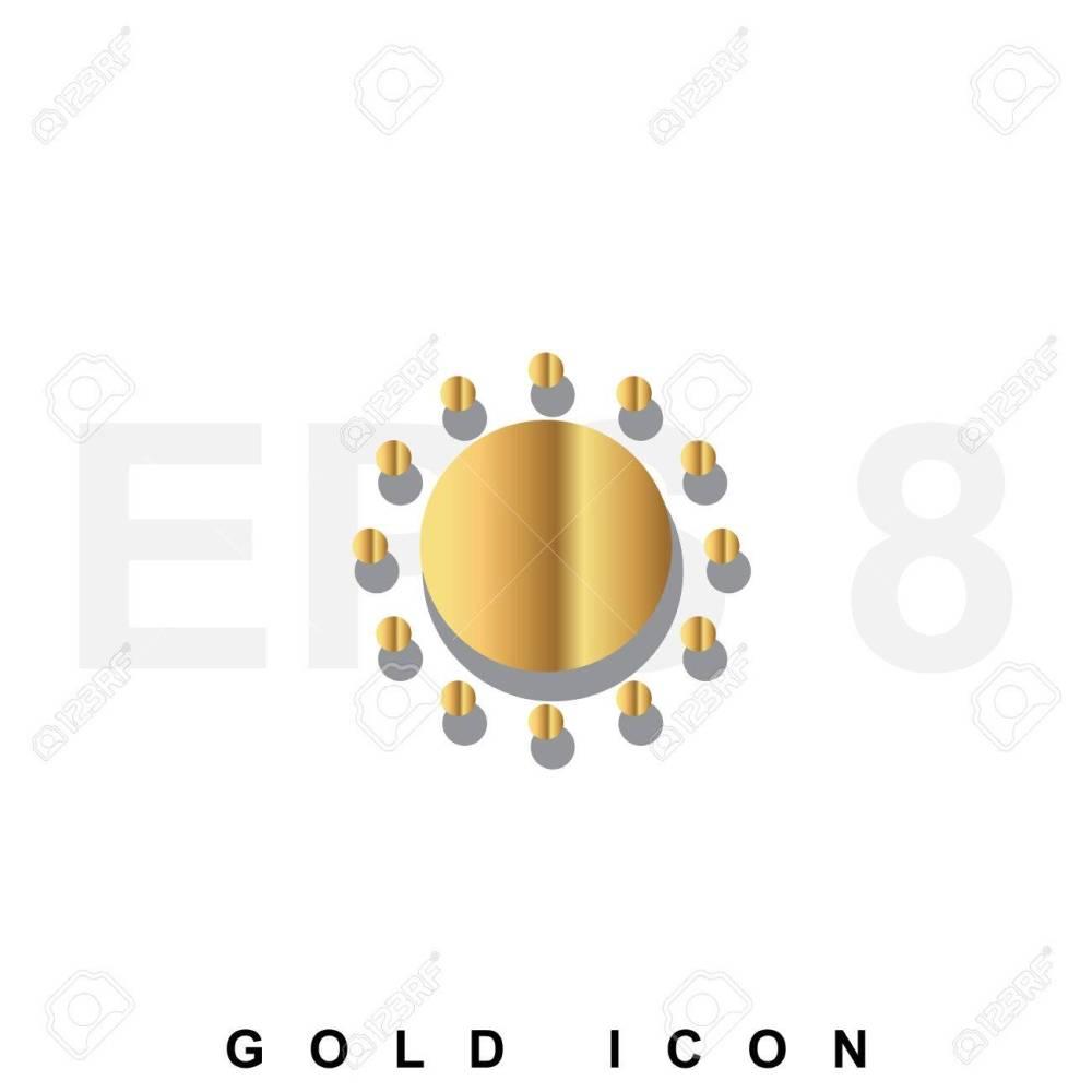 medium resolution of foto de archivo golden icono prima de sun plantilla de elemento de dise o gr fico web vector s mbolo de lujo real para los negocios internet