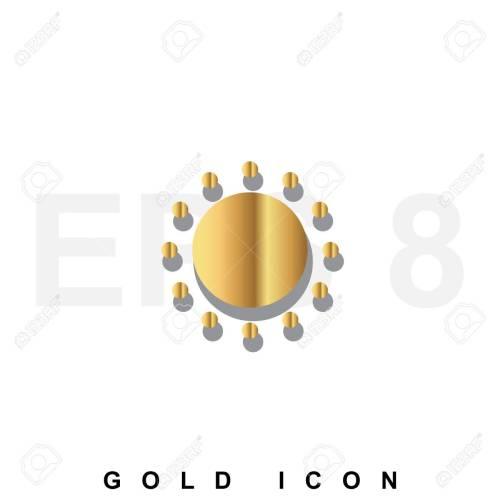 small resolution of foto de archivo golden icono prima de sun plantilla de elemento de dise o gr fico web vector s mbolo de lujo real para los negocios internet