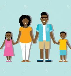 family colourful silhouette with african american parents and children stock vector 55589477 [ 1300 x 1300 Pixel ]
