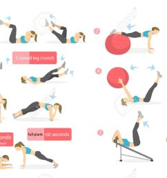 abs workout for women woman in sport outfit doing abs exercises in gym all [ 1300 x 808 Pixel ]