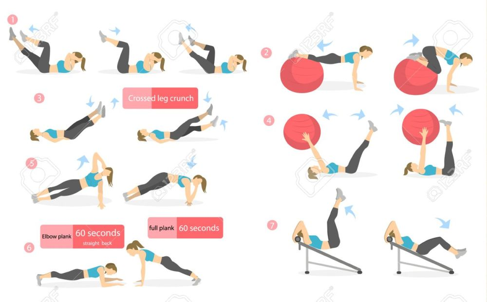 medium resolution of abs workout for women woman in sport outfit doing abs exercises in gym all