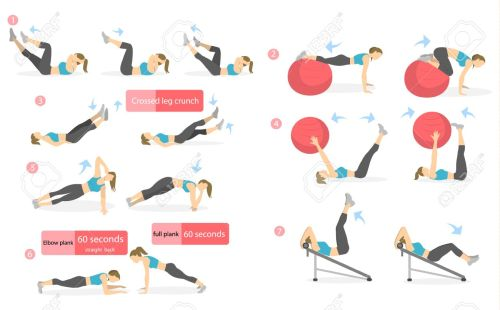 small resolution of abs workout for women woman in sport outfit doing abs exercises in gym all