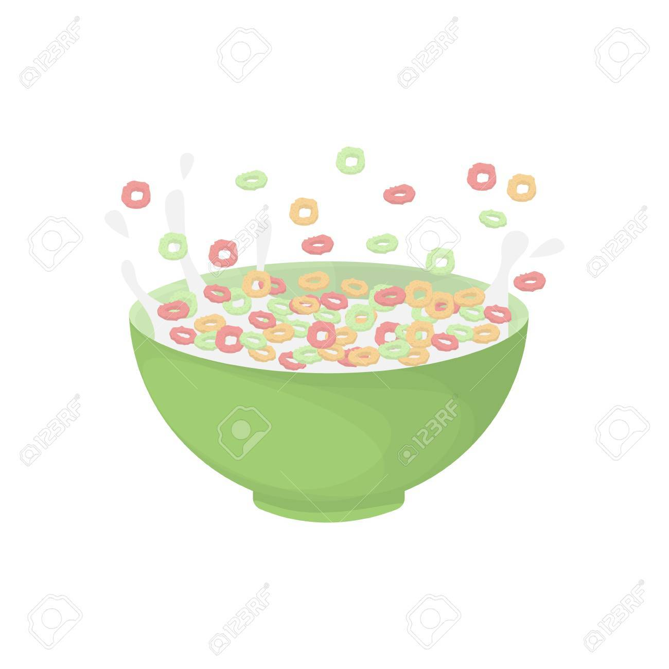hight resolution of breakfast cereal bowl stock vector 83486192