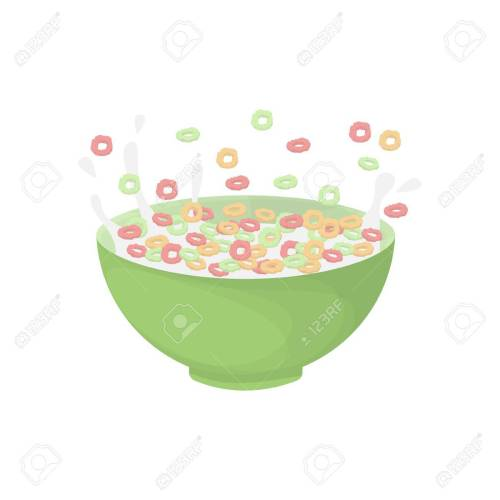 small resolution of breakfast cereal bowl stock vector 83486192