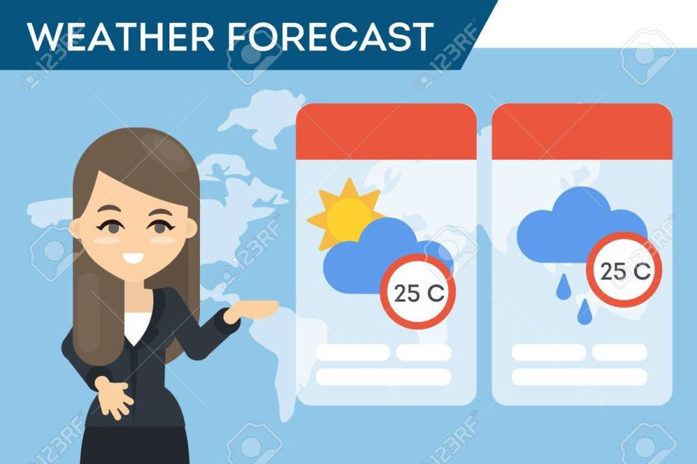 medium resolution of tv weather forecast stock vector 87399892