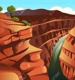 illustration of grand canyon background stock vector 35291942 [ 1300 x 866 Pixel ]