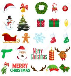 a vector illustration of christmas winter clipart icons stock vector 78086063 [ 1300 x 1300 Pixel ]