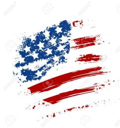 grunge american usa flag splattered star and stripes stock vector 29894082 [ 1185 x 1300 Pixel ]