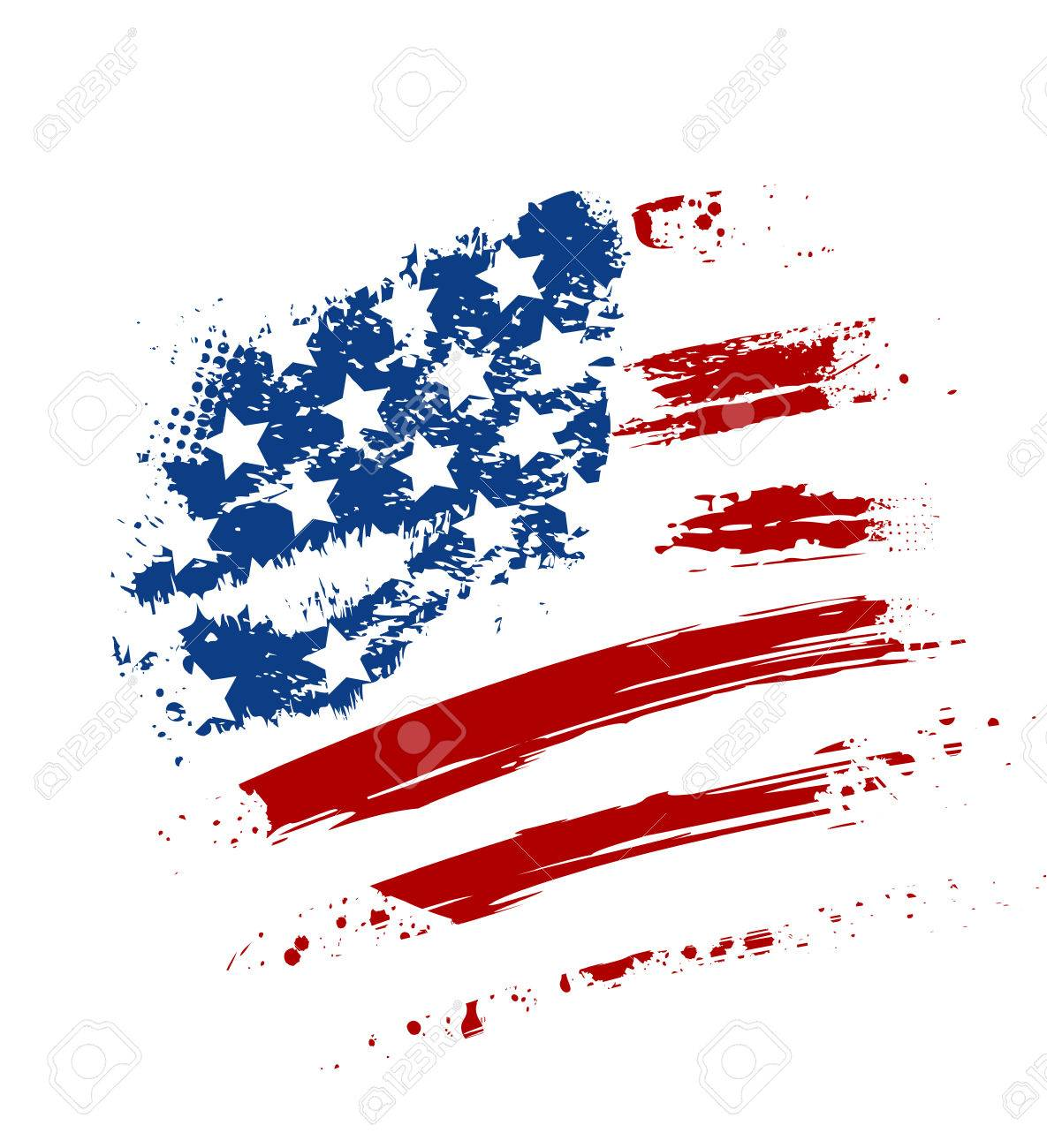 hight resolution of grunge american usa flag splattered star and stripes stock vector 29894082