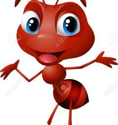 cute cartoon ant illustration [ 874 x 1300 Pixel ]