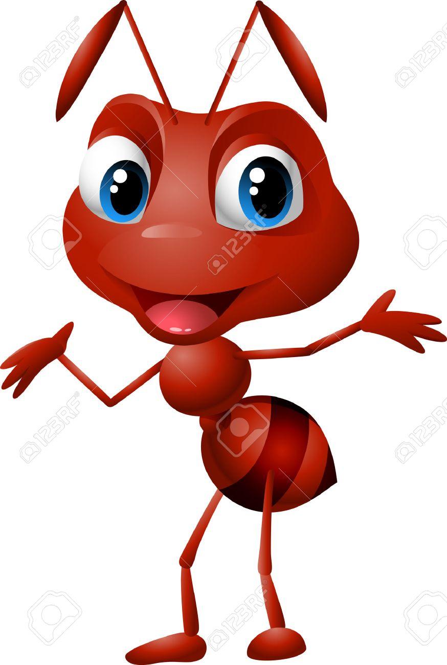 hight resolution of cute cartoon ant illustration