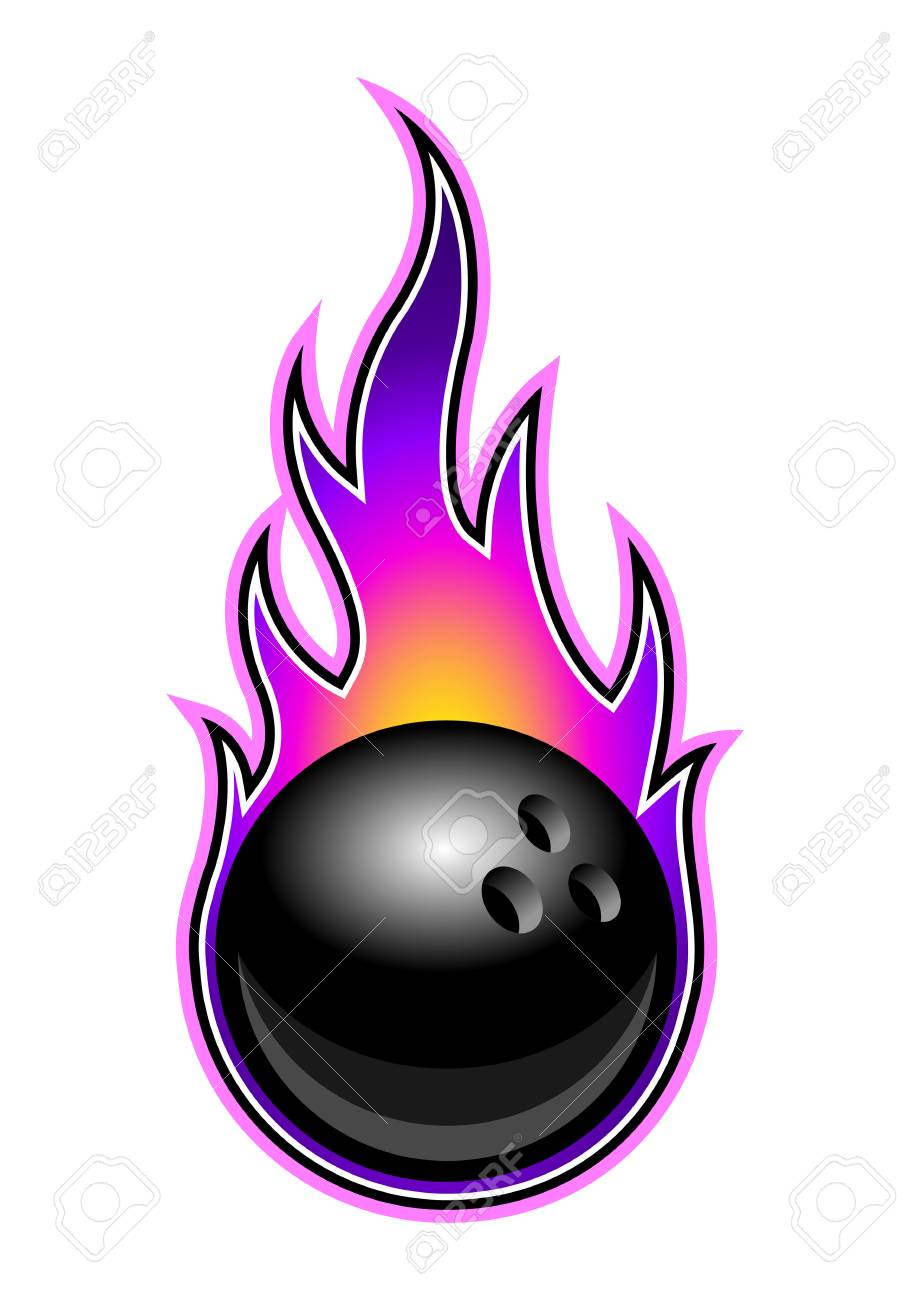 Bowling Ball Clipart : bowling, clipart, Vector, Illustration, Bowling, Simple, Flames., Ideal.., Royalty, Cliparts,, Vectors,, Stock, Illustration., Image, 105737727.