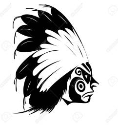 north american indian chief illustration stock vector 30579454 [ 1300 x 1300 Pixel ]