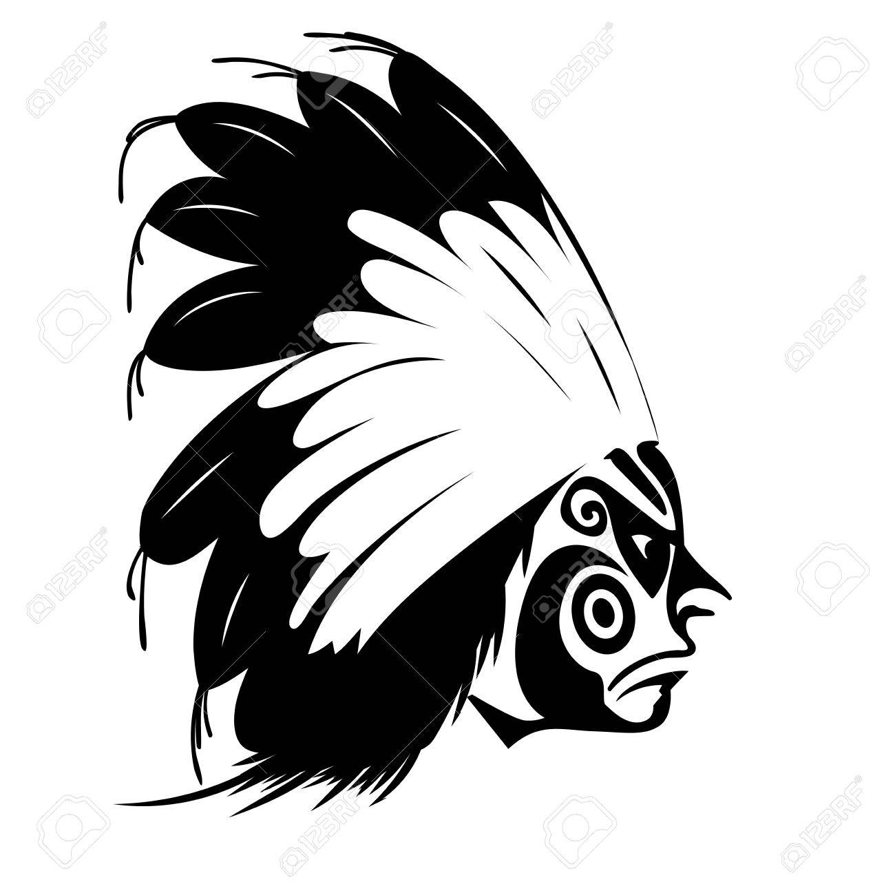 hight resolution of north american indian chief illustration stock vector 30579454