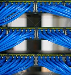 lan cable wiring and networking in the network or server rack server rack wiring ladder rooms [ 1300 x 866 Pixel ]