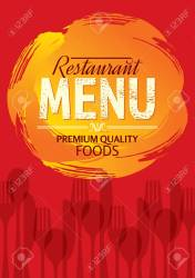 Restaurant Menu Card Design Template Creative Vector Royalty Free Cliparts Vectors And Stock Illustration Image 62248316