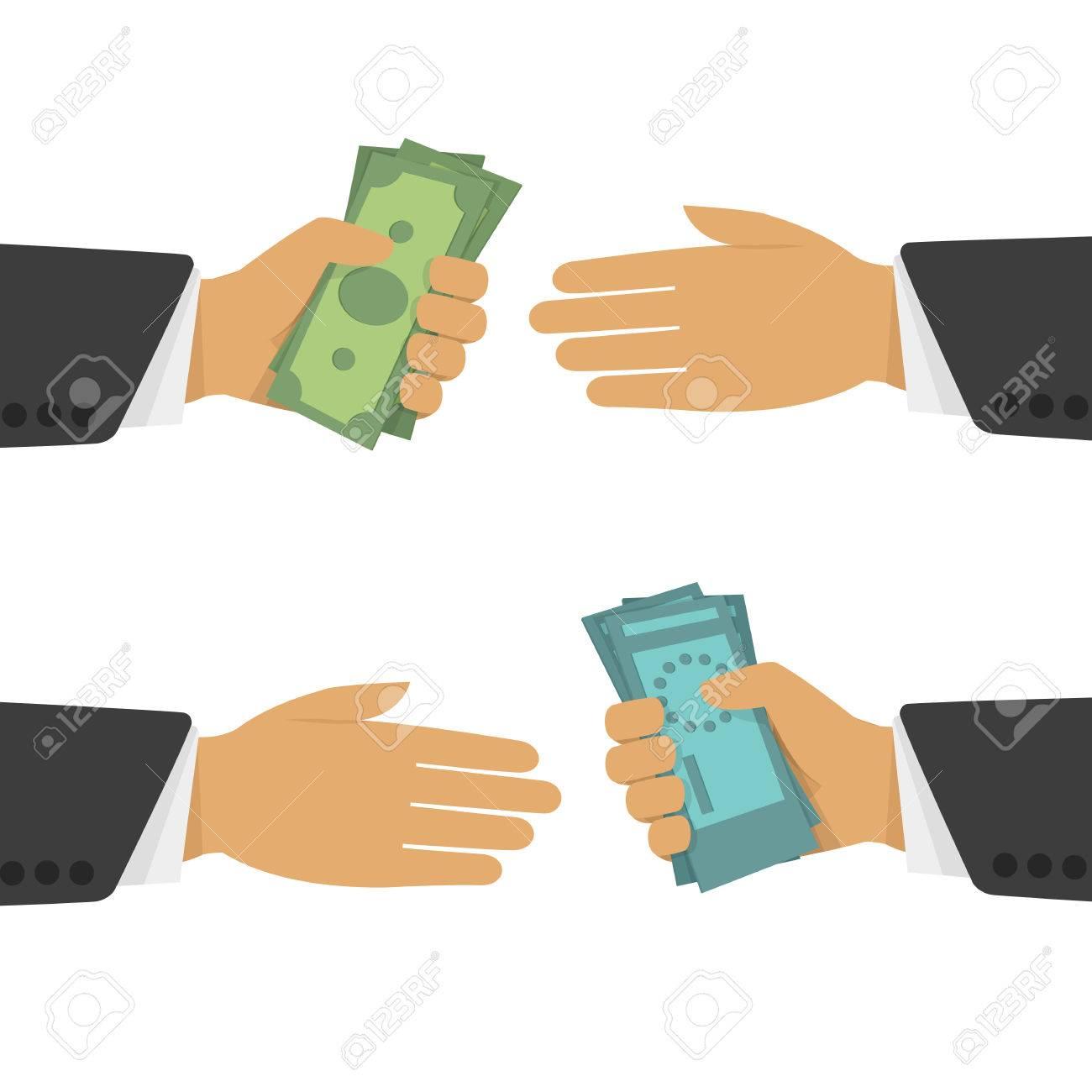 banque d images bureau de change un bureau de change bourse dans un style plat les operations de change en especes de main en main