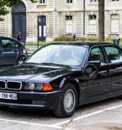 paris france august 8 2014 motor car bmw e38 7 series [ 1300 x 864 Pixel ]