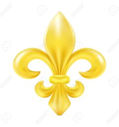 golden fleur de lis decorative design stock vector 39657525 [ 1300 x 1300 Pixel ]
