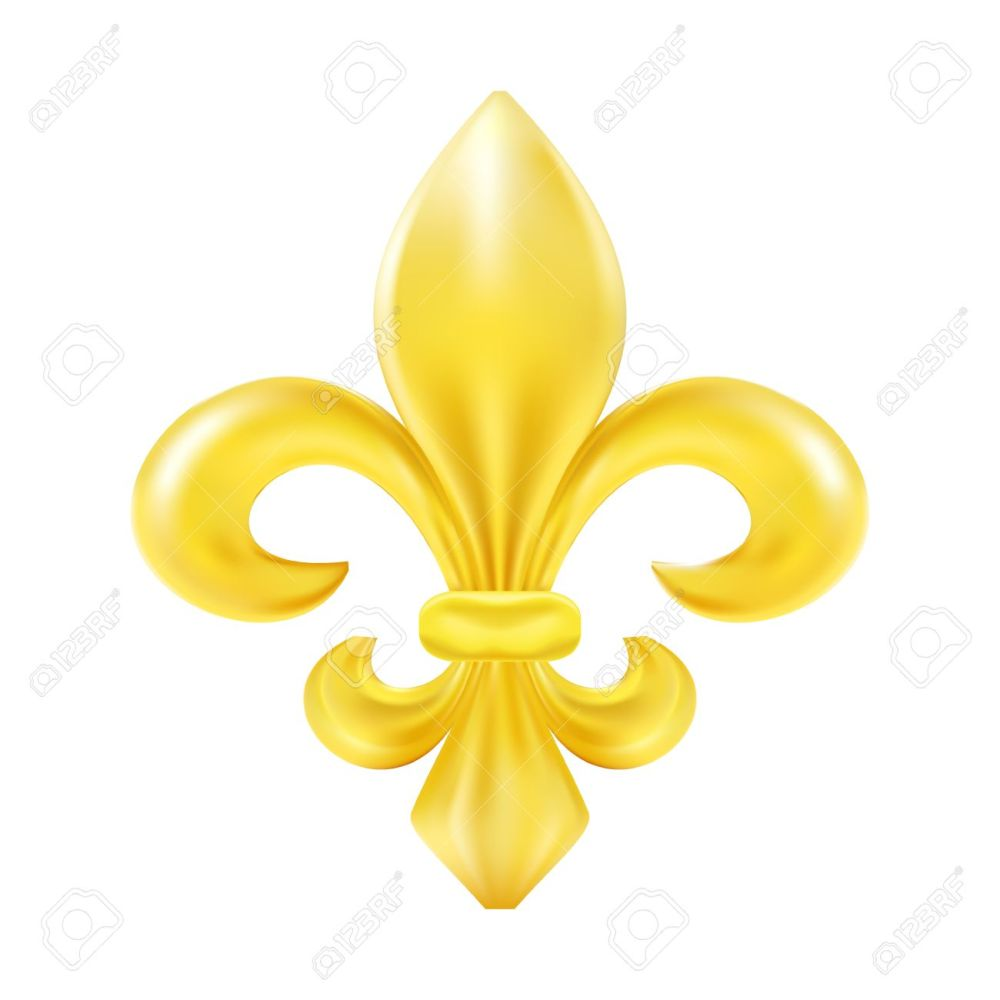 medium resolution of golden fleur de lis decorative design stock vector 39657525