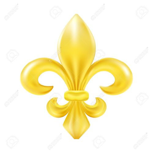 small resolution of golden fleur de lis decorative design stock vector 39657525
