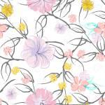 Pink Flowers Blooming Pattern Pastel Watercolor Floral Print Royalty Free Cliparts Vectors And Stock Illustration Image 152775515