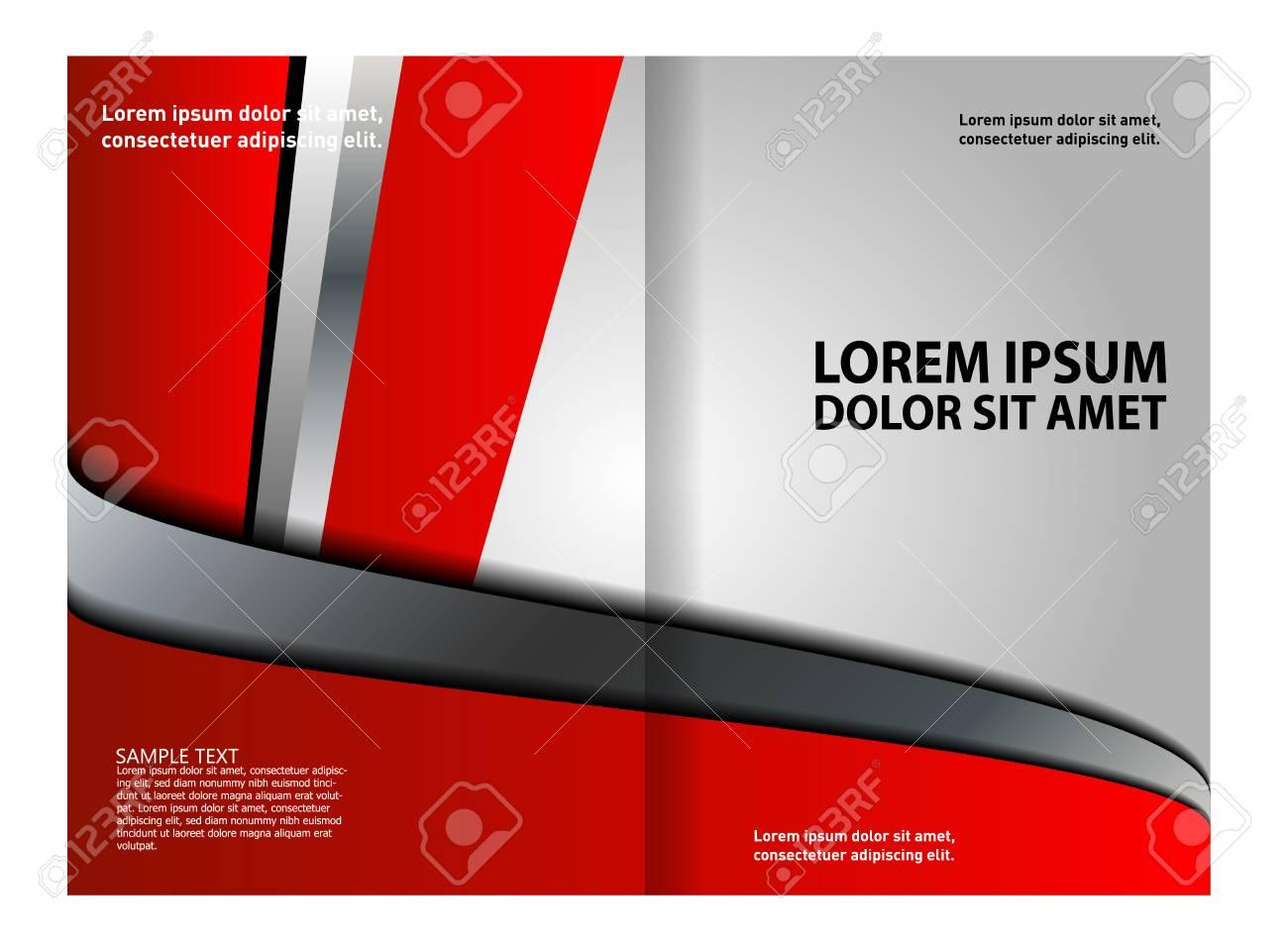 Bi-Fold Brochure Design Stock Vector - 56602055