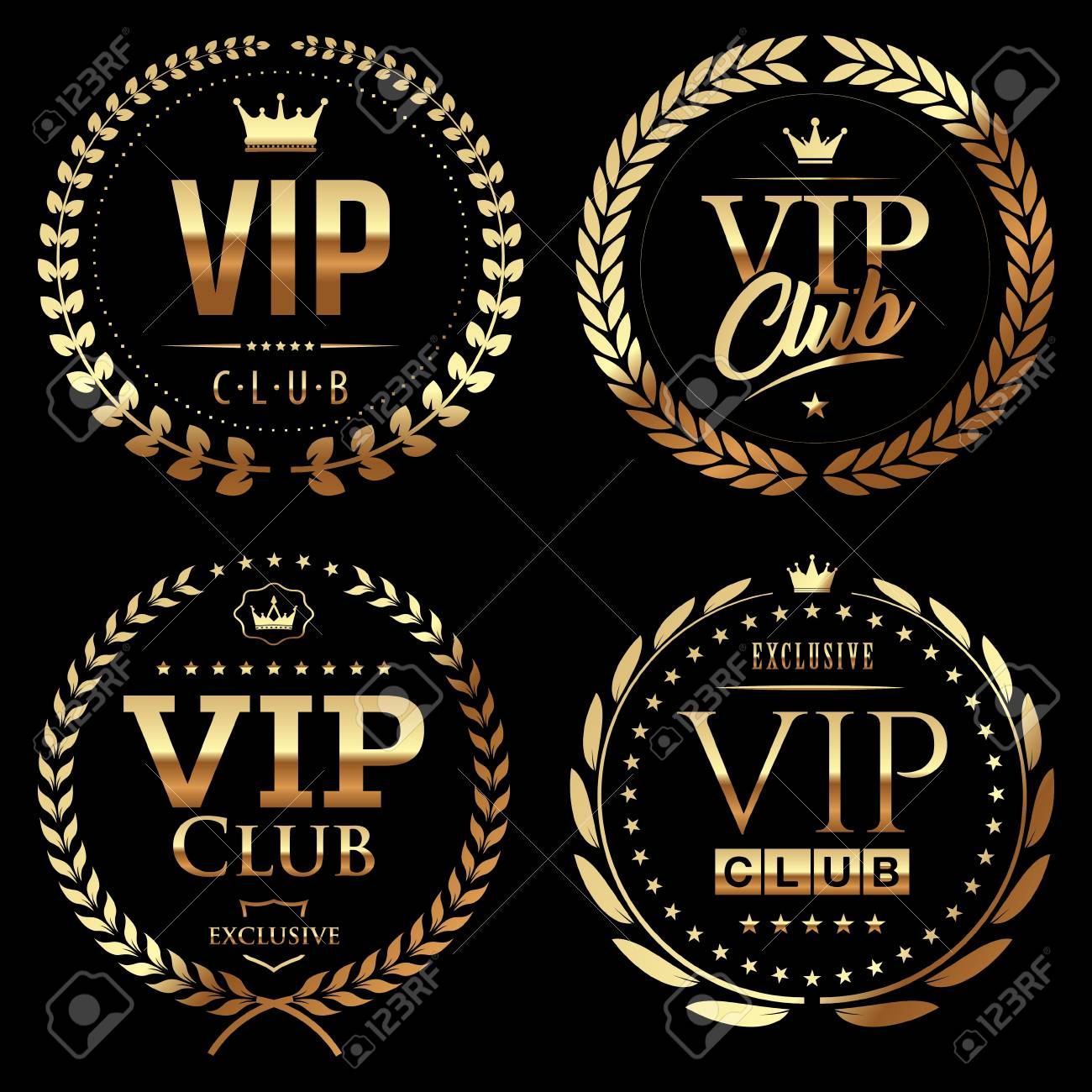 set of vip badges