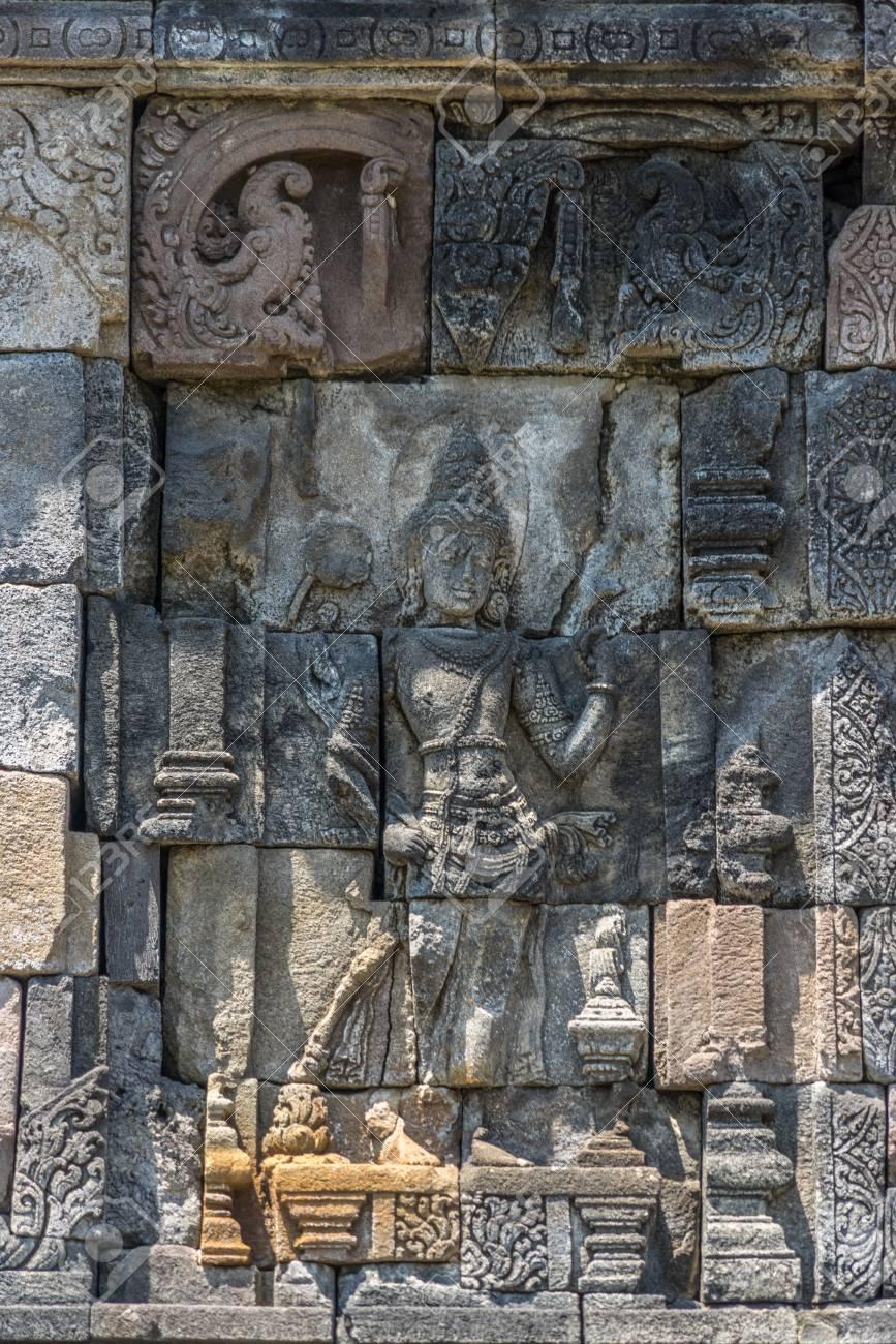 Ukiran Candi : ukiran, candi, Stone, Craved, Bas-relief, Candi, Plaosan, Complex,, Century.., Stock, Photo,, Picture, Royalty, Image., Image, 95553710.