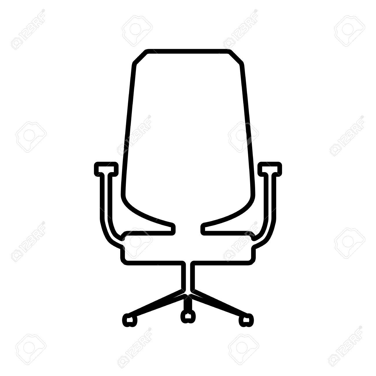 office chair vector staples chairs canada line icon illustration on white background stock 50796109
