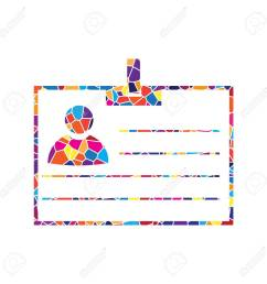 stained glass icon on white background colorful polygons  [ 1300 x 1300 Pixel ]