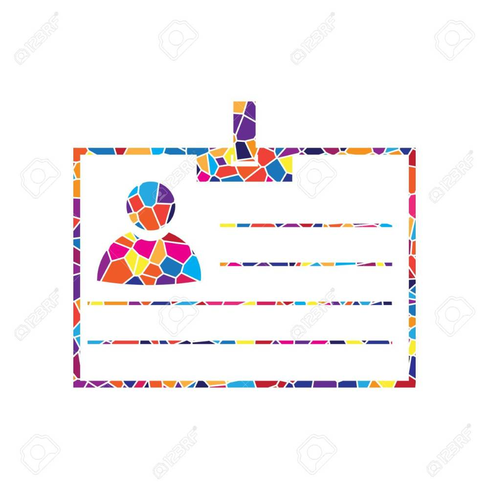 medium resolution of stained glass icon on white background colorful polygons