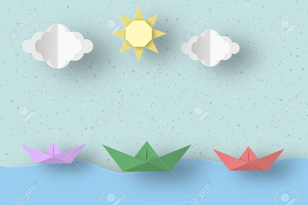 cut ships clouds sun