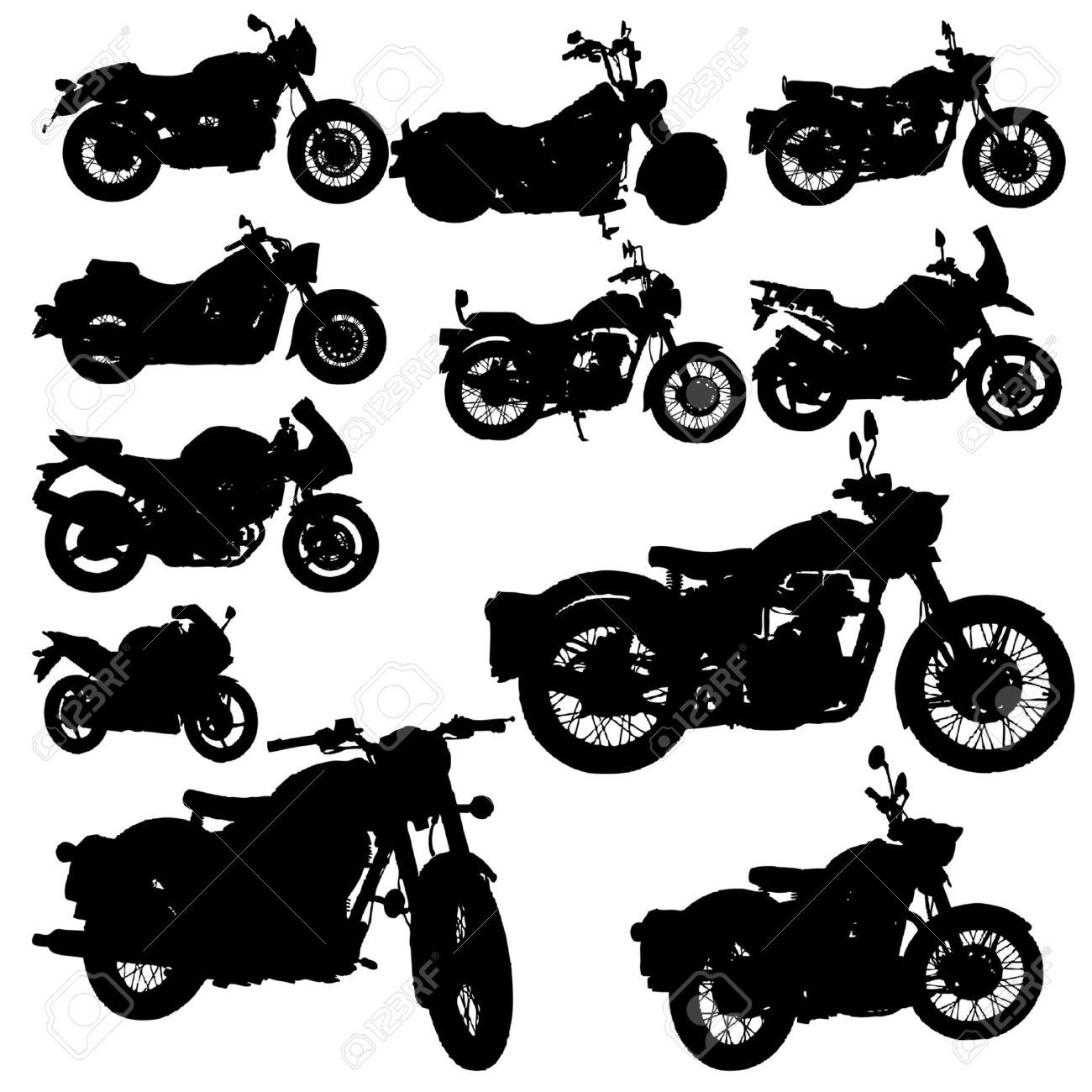 hight resolution of motorcycle classic vector