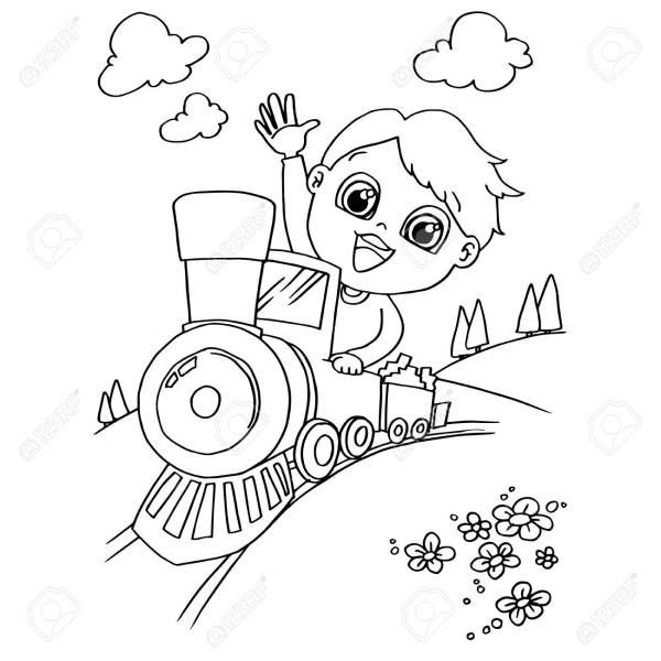 train coloring # 53