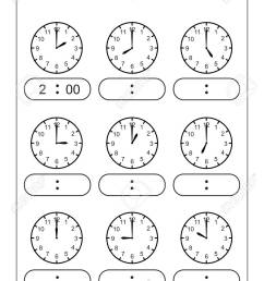 Telling Time Telling The Time Practice For Children Time Worksheets..  Royalty Free Cliparts [ 1300 x 919 Pixel ]