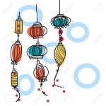 Hand Drawing Lantern Festival Royalty Free Cliparts Vectors And Stock Illustration Image 19608785